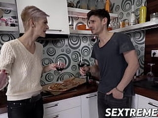 Fit older lady fucks cute young guy