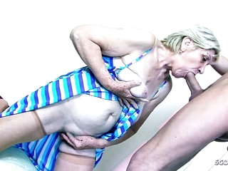 78yr old Granny Gabi have Sex with Big Dick Young Boy >21 min