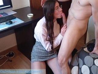 18yo Schoolgirl Fucked Under Skirt, Cum On Her Ass. Shanaxnow With Hannibalrose