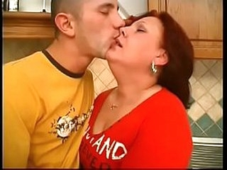 Fat mommy loves her hairy cunt to be fucked by young guy